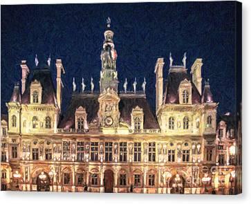 Hotel De Ville Paris Canvas Print