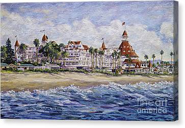 Hotel Del Beach Canvas Print