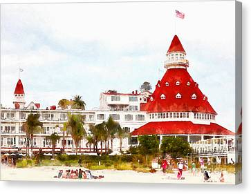 Hotel Del Coronado In Coronado California 5d24256wcstyle Canvas Print by Wingsdomain Art and Photography