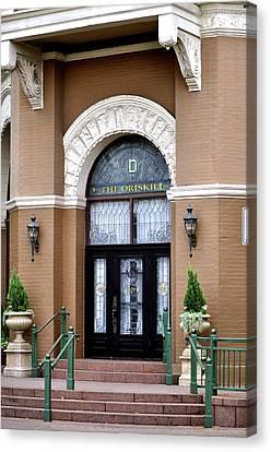 Hotel Door Entrance Canvas Print