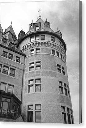 Hotel Frontenac Quebec City Canvas Print by Ann Powell