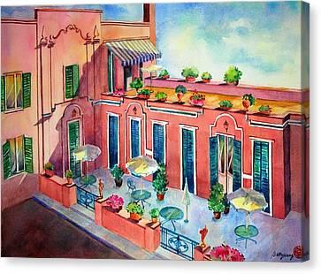 Hotel In Rome Canvas Print