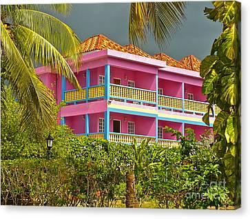 Hotel Jamaica Canvas Print by Linda Bianic