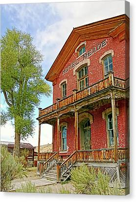 Hotel Meade Bannack Montana Ghost Town Canvas Print by Jennie Marie Schell