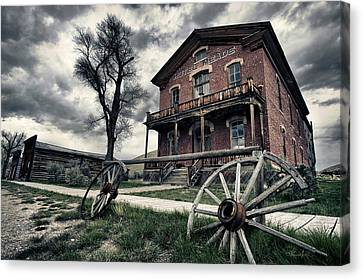 Montana Canvas Print - Hotel Meade by Renee Sullivan