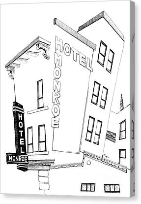 Hotel Monroe - Full View Canvas Print by Michele Fritz
