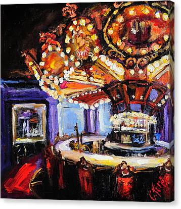 Hotel Monteleone Bar Canvas Print by Carole Foret