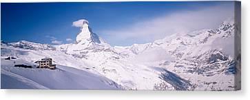 Hotel On A Polar Landscape, Matterhorn Canvas Print