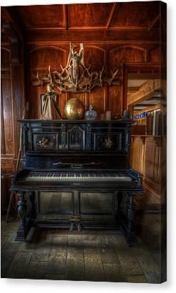 Creepy Canvas Print - Hotel Piano by Nathan Wright