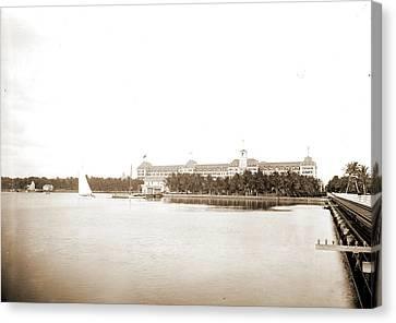 Royal Poinciana Canvas Print - Hotel Royal Poinciana, Palm Beach, Fla, Resorts, Hotels by Litz Collection