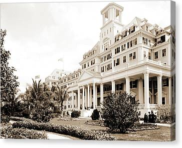 Royal Poinciana Canvas Print - Hotel Royal Poinciana, Palm Beach, Fla, Resorts by Litz Collection