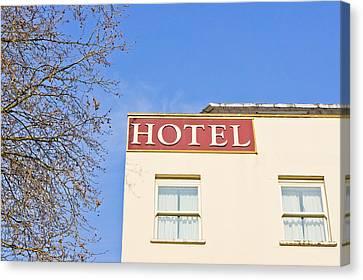 Hotel Canvas Print by Tom Gowanlock