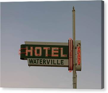 Hotel Waterville Neon Sign Canvas Print