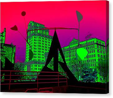 Canvas Print featuring the photograph Hotlanta by Cleaster Cotton