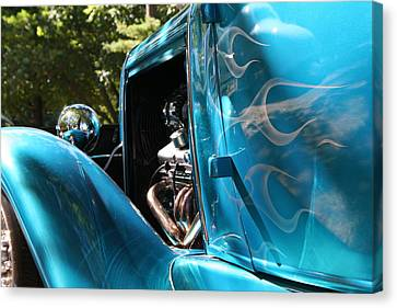 Hotrod Ghost Flames Canvas Print by Heather Allen