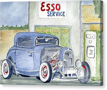 Canvas Print featuring the painting Hotrod II by Eva Ason