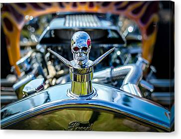 Hotrod Skull Canvas Print by David Morefield
