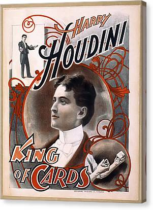 Houdini King Of Cards  1895 Canvas Print by Daniel Hagerman