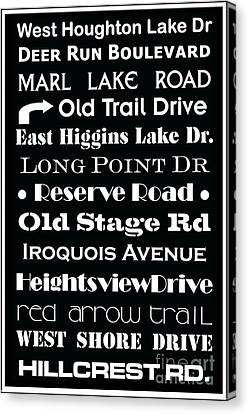 Houghton Higgins Subway Sign Canvas Print by Desiree Paquette