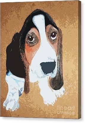 Hound Dog Canvas Print by Rachel Barrett