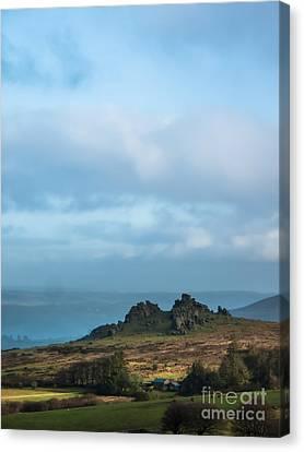 Hound Tor On Dartmoor  Canvas Print by Jan Bickerton