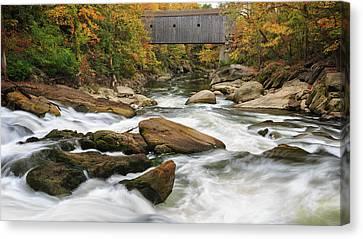Litchfield County Canvas Print - Housatonic River Bulls Bridge by Bill Wakeley