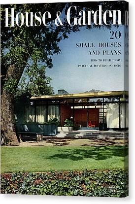 Back Yard Canvas Print - House & Garden Cover Of The Kurt Appert House by Ernest Braun