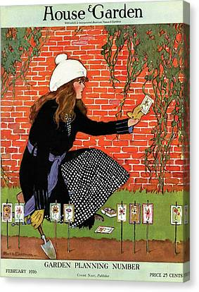 House And Garden Garden Planting Number Cover Canvas Print by Ruth Easton