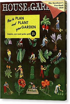 House And Garden How To Plan And Plant Canvas Print
