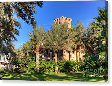 House At Madinat Jumeira Dubai Canvas Print by Fototrav Print