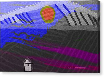 House At The Bottom Of The Hill Canvas Print by Lenore Senior