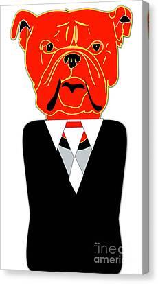 House Broken English Bulldog Puppy Canvas Print