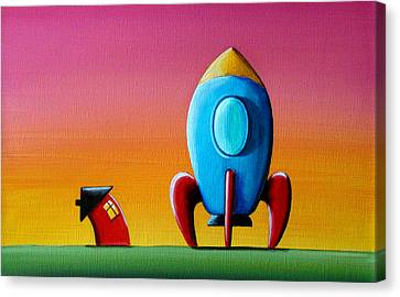 House Builds A Rocketship Canvas Print by Cindy Thornton