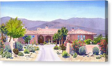 House In Borrego Springs Canvas Print by Mary Helmreich