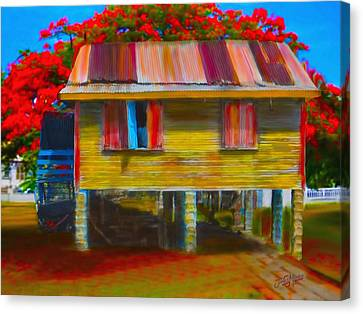 Red Roof Canvas Print - House In Gt by James  Mingo