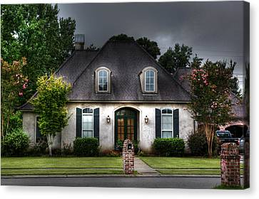 Canvas Print featuring the photograph House In Hdr by Cecil Fuselier