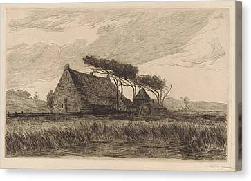 House In The Dunes At Katwijk, The Netherlands Canvas Print by Carel Nicolaas Storm Van 's-gravesande