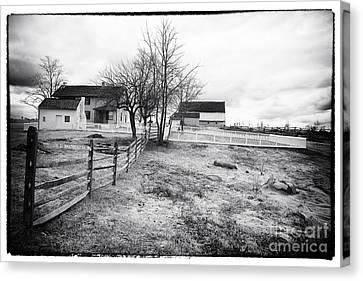 House In The Field Canvas Print by John Rizzuto