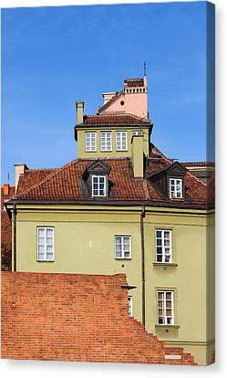 House In The Old Town Of Warsaw Canvas Print by Artur Bogacki