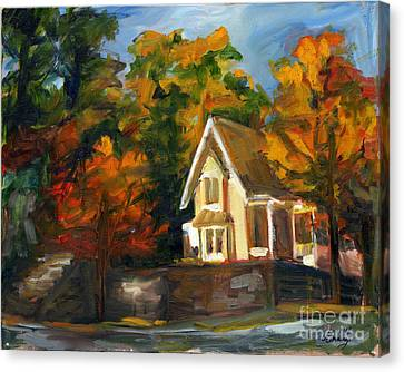 House In The Sun Canvas Print by Jessica Cummings