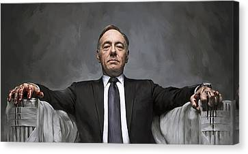 Kevin Canvas Print - House Of Cards Artwork by Sheraz A