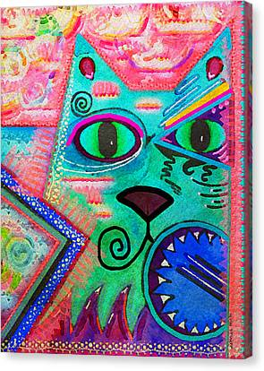 House Of Cats Series - Spike Canvas Print by Moon Stumpp