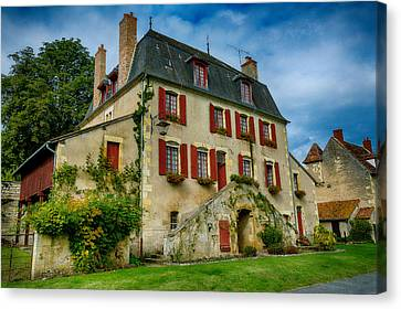 House Of Central France Canvas Print