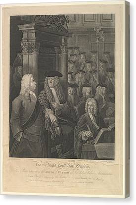 Stippling Canvas Print - House Of Commons - Sir Robert Walpoles by After William Hogarth