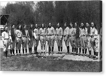 House Of David Baseball Team Canvas Print by Underwood Archives