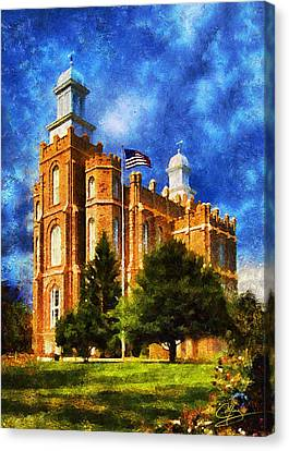 Canvas Print featuring the digital art House Of Learning by Greg Collins