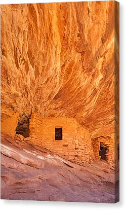 House On Fire Ruins Canvas Print by Rory Wallwork