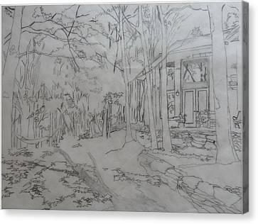 House On Grandmother Mountain Canvas Print by Joel Deutsch