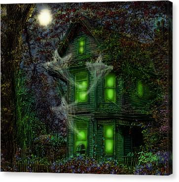 House On Haunted Hill Canvas Print by Doug Kreuger