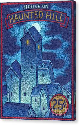 House On Haunted Hill Canvas Print by Thomas Sciacca